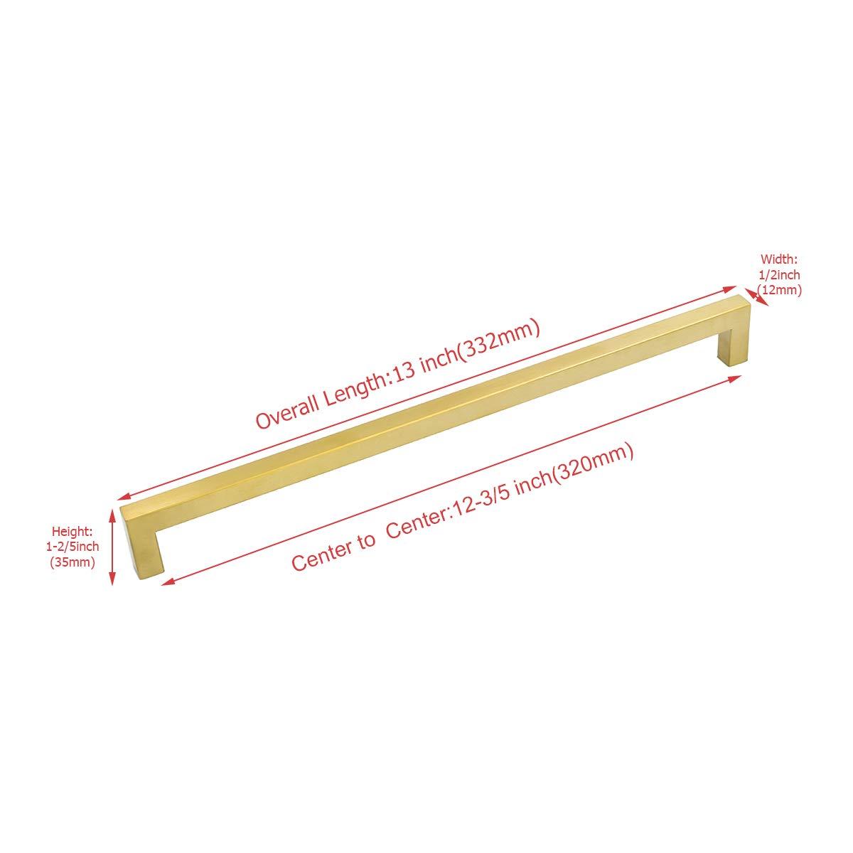 20 St/ück Goldenwarm Goldene Griff Feststehend Dusche M/öbelgriffe Lochabstand 160mm LSJ12GD160 Antike Schrankgriffe Stangengriff K/üchengriff