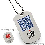 Pale Blue Dot Squid Medical Alert ID Dog Tag