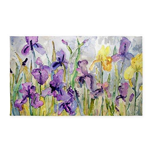 Iris Throw (CafePress - Purple And Yellow Iris Romantic Ruf 3'X5' - Decorative Area Rug, Fabric Throw Rug)