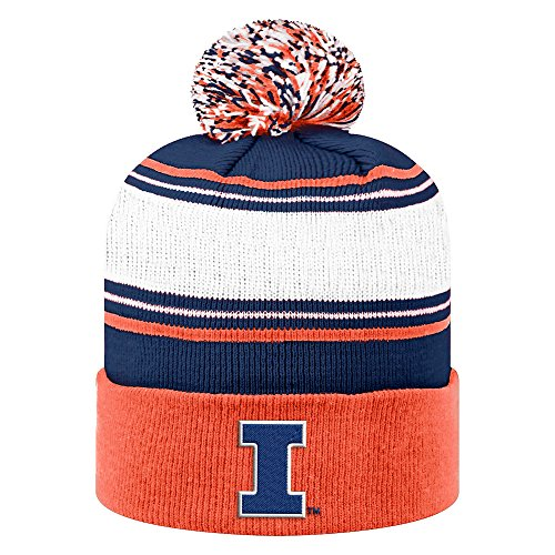 Illinois State University Football - Top of the World NCAA Illinois Illini Men's Winter Knit Ambient Warm Hat, Orange
