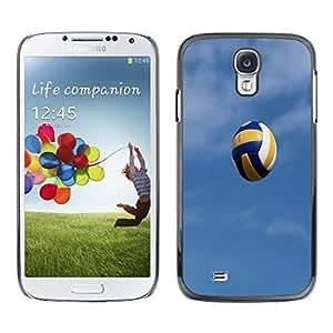 - Volleyball - - Monedero pared Design Premium cuero del tir¨®n magn¨¦tico delgado del caso de la cubierta pata de ca FOR Samsung Galaxy S4 i9500 i9508 i959 Funny House