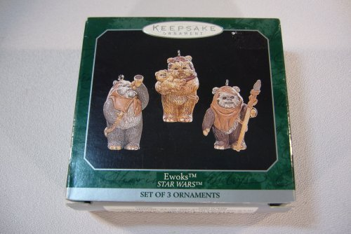 (Hallmark Keepsake Ornaments Star Wars Ewoks-mini)