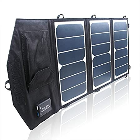 GVSmart Dual USB Sunpower Solar Charger for iPhone/Mobile Power Bank (21 W)