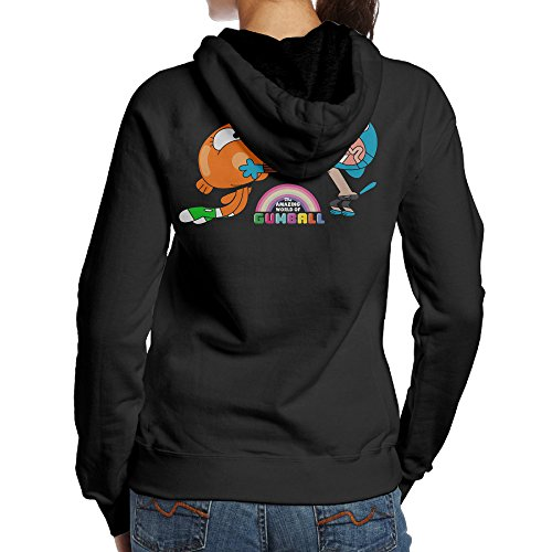 Fat Amy Halloween Costumes (SBLPT The Amazing World Of Gumball Brother Jersey Women's Hooded Sweatshirt M Black)