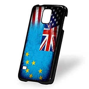 Case for Samsung Galaxy S5 (5 V) - Flag of Tuvalu & USA - Tuvaluan - Rustic