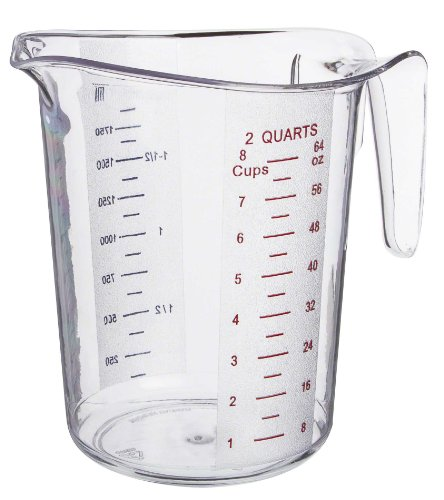 Update International (MEA-200PC) 2 Quart Plastic Measuring Cup