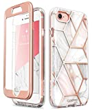 iPhone 8 Case, iPhone 7 Case, [Built-in Screen Protector] i-Blason [Cosmo] Stylish Protective Bumper Case for Apple iPhone 8 (2017) / iPhone 7 (2016) (Marble)
