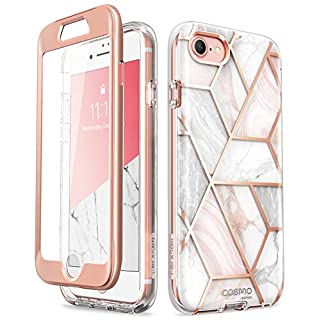 i-Blason Cosmo Series Designed for New iPhone SE 2020 Case/iPhone 7 Case/iPhone 8 Case, [Built-in Screen Protector] Stylish Protective Bumper Case for iPhone SE (2020)/ iPhone 8/ iPhone 7 (Marble)