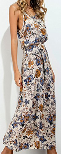 erdbeerloft - Damen Ärmelloses Maxikleid mit floralem Muster, Mehrfarbig, XS-XL