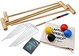 Jaques of London Croquet Set - Tonbridge - In Durable Canvas Bag