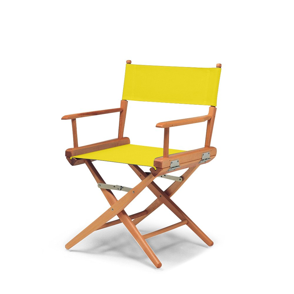 Telescope Casual World Famous Dining Height Director Chair, Canary with Varnish Frame by Telescope Casual