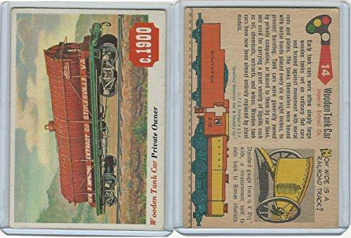 1955 Topps, Rails & Sails, 14 Wooden Tank Car, Railroad ()