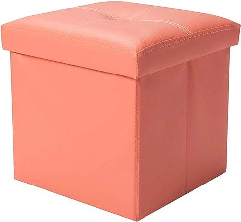 WENYAO Taburete Plegable de Cuero otomano Reposapiés tapizado Reposapiés Cubo Plegable Caja de Asiento Individual para Sala de Estar y Dormitorio Máx.100 kg: Amazon.es: Hogar
