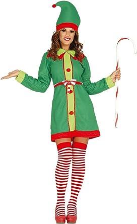NEW Elf Costume Santa/'s Helper Ladies Funny Fancy Dress Christmas Costume