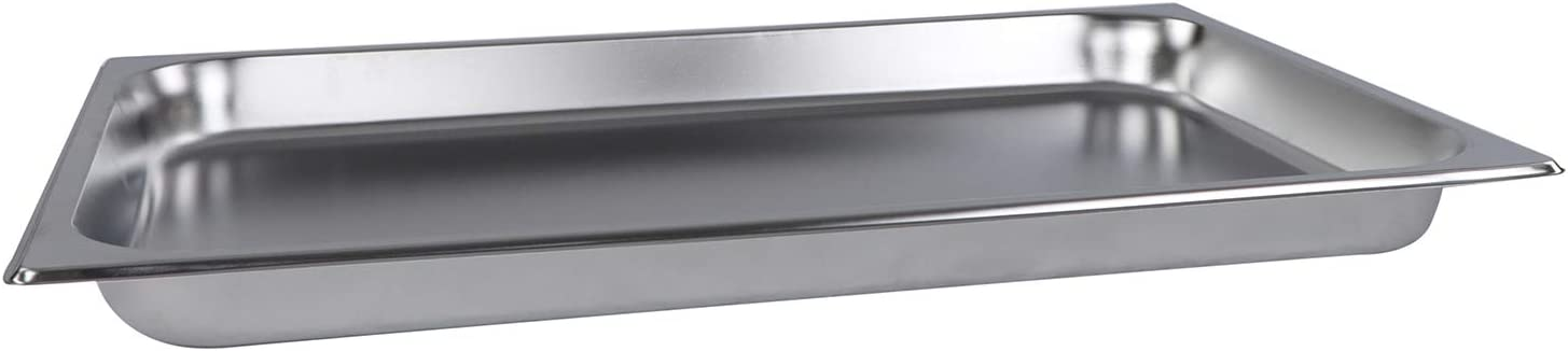Lot45 Stainless Steel Steam Pan - Full Size Hotel Table Pans, Chafing Buffet Restaurant Trays for Catering, 2in Deep 1pk