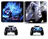 Cosines PS4 Slim Stickers Vinyl Decal Protective Console Skins Cover for Sony Playstation 4 Slim and 2 Controllers Devil May Cry DMC 4