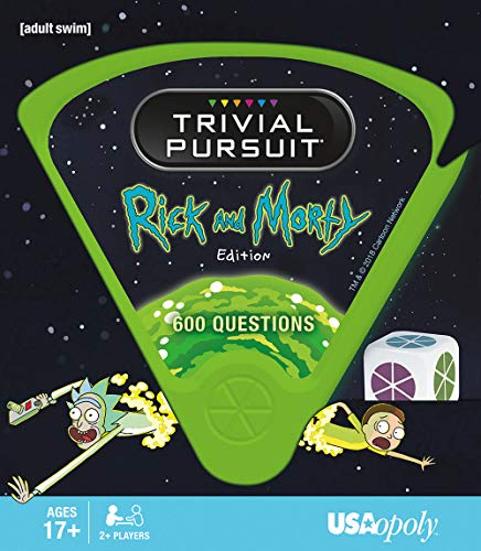 USAOPOLY Trivial Pursuit Rick and Morty - Quick Play Version | Trivia Questions Based on The Adult Swim Show Rick and Morty | Officially Licensed Rick and Morty Game (Best Version Of Trivial Pursuit)