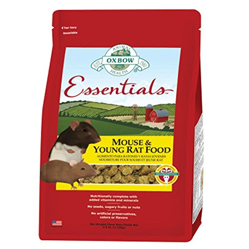 Oxbow Essentials Mouse and Young Rat Natural Pet Food Pellets 2.5 Pounds Bag ()
