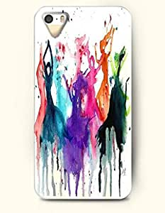 iPhone 5/5S Case, OOFIT Phone Cover Series for Apple iPhone 5 5S Case (DOESN'T FIT iPhone 5C)-- Watercolor Painting- Girls Dancing -- Rainbow Color Series