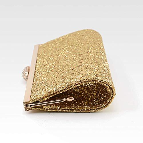 Fashion Purse Tskybag Clutch Prom Black Sparkly Bag Glitter Gorgeous Party Gold Handbag Silver Evening Womens Gold Bridal ZgrAwqgd