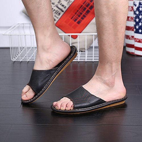 di al uomini 40 fresco le estivi 39 sandali moda piano pantofole coppie nero arredamento fankou e e donne morbido terra per wf7d7qI