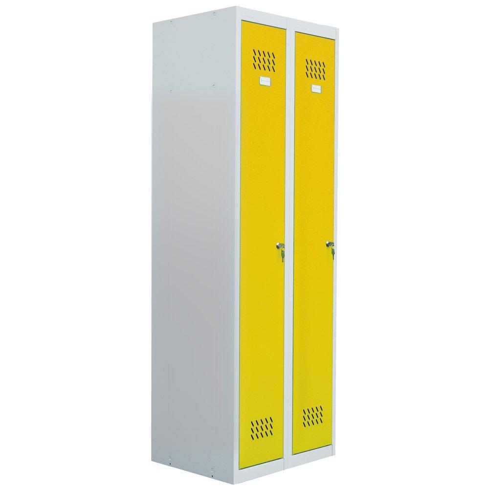 pro-bau-tec Doppelspind Garderobenschrank, gelb, 20006