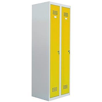 Pro Bau Tec pro bau tec doppelspind garderobenschrank gelb 20006 amazon de