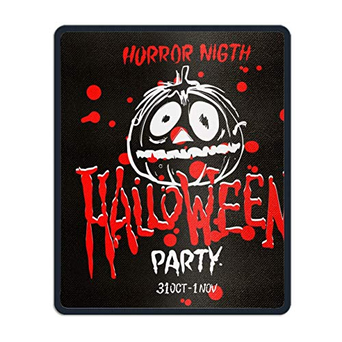 Halloween Party Art Mouse Pad - Natural Rubber Mouse Pad£¬Stitched -