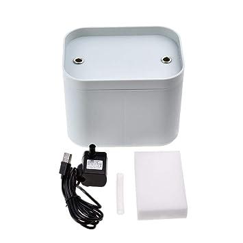 HEIRAO Fuente de Agua Potable del Gato, dispensador automático de Ciclo eléctrico del Agua del Perro casero del oxígeno Activo eléctrico: Amazon.es: Hogar