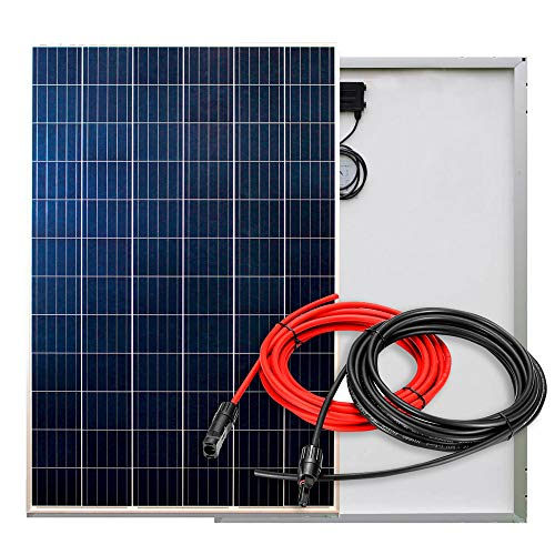 PlusEnergy Placa Solar Policristalina 12V/24V 270W + Cable Soalr y Conector MC4
