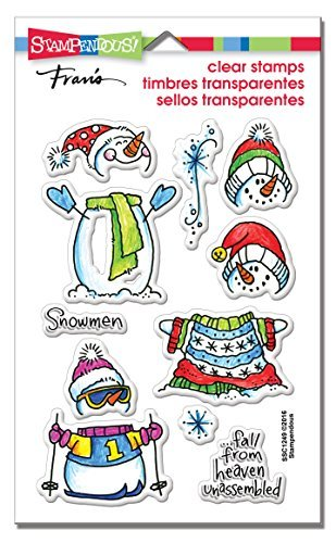 Stampendous Perfectly Clear Stamps 4X6-Winter Stack by Stampendous