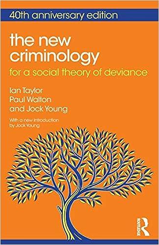 The New Criminology por Ian Taylor epub