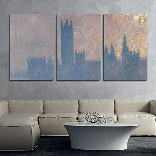 3 Panel Houses of Parliament Sunlight Effect by Claude Monet x 3 Panels