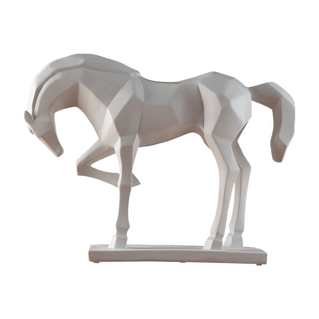 Dekoartikel Skulpturen YIGEYI Skulptur Nordischen Modernen Minimalistischen Tv-Schrank Dekorationen Tier Pferd Nach Hause Weinschrank Wohnzimmer Modell Zimmer Handwerk Ornamente