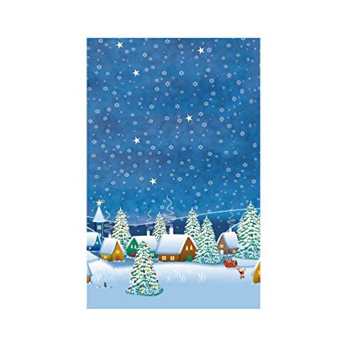Susy Card 11384740 - Weihnachtsmitteldecke 80 x 80 cm Winterdorf