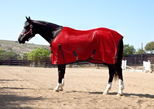 Kensington Euro Cut Poly Max Fly Sheet, Deluxe Red, 69 Horse Fly Sheet