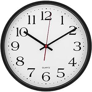 Amazon Com Large Wall Clock Silent Amp Non Ticking Modern