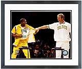 Larry Bird & Magic Johnson NBA Photo (Size: 12.5'' x 15.5'') Framed