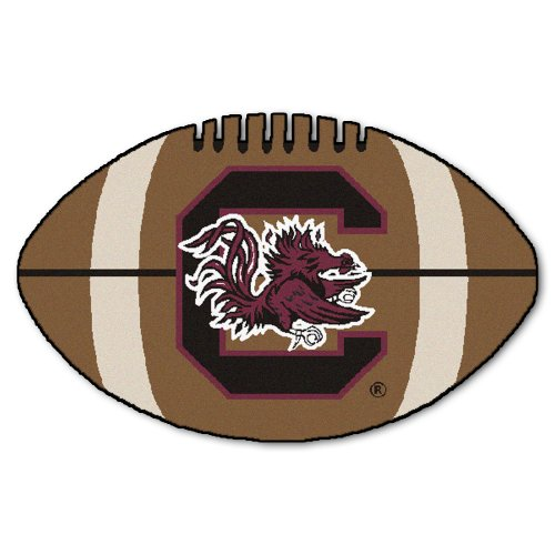 FANMATS NCAA University of South Carolina Gamecocks Nylon Face Football Rug Carolina Baseball Rug