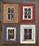 2'' Barn Window Frame for (4) 5 X 7 Pictures