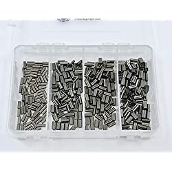 Mini Copper Double Barrel Crimp Kit 100pcs each .8,1.0,1.2,&1.4mm 50lb-180lb