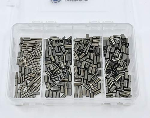 Mini Copper Double Barrel Crimp Kit 100pcs each .8,1.0,1.2,&1.4mm -
