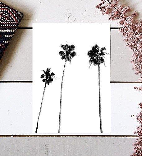 Palm Tree Print, Palm Print, Palm Tree Photography, Black and White, Palm, Palm Tree, Tropical Wall Art, Tropical Decor, Wall Decor, Black and White Palm Tree, Black Palm Tree, Minimalist, 8x10 by MotivatedWallArt