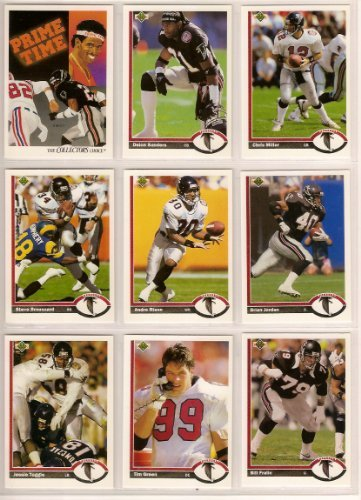 - Atlanta Falcons 1991 Upper Deck Football Master Team Set with High Numbers***Premier Issue*** (Deion Sanders) (Chris Miller) (Andre Rison) (Brian Jordan) (Eric Pegram Rookie) and More