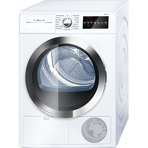 Bosch WTG86402UC800 4.0 Cu. Ft. White Stackable Electric Dry