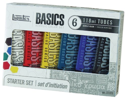 Liquitex BASICS Acrylic Paint Set, 4 Ounce Tubes, Assorted...