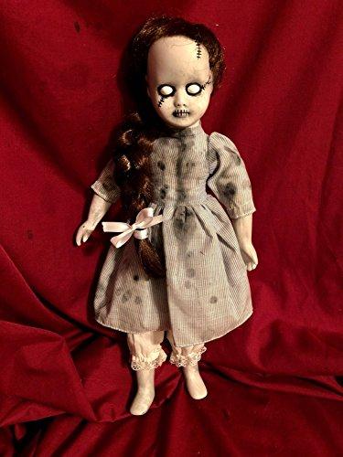 OOAK Dorothy of Oz Frankenstein Zombie Girl Gothic Creepy Horror Doll Art by Christie Creepydolls]()