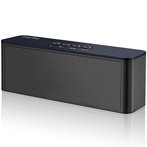 Bluetooth Speaker, ZoeeTree S5 TWS Portable Wireless Speakers with Loud Clear Sound and Rich Bass, Perfect Outdoor Stereo Speaker Built-In Mic, Bluetooth 4.2 and TF Card (Pair High Power Stereo Speaker)