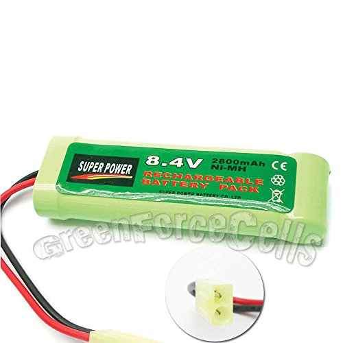 1x 8.4V NiMH 2800mAh Super Power Rechargeable Battery Pack For RC CELL