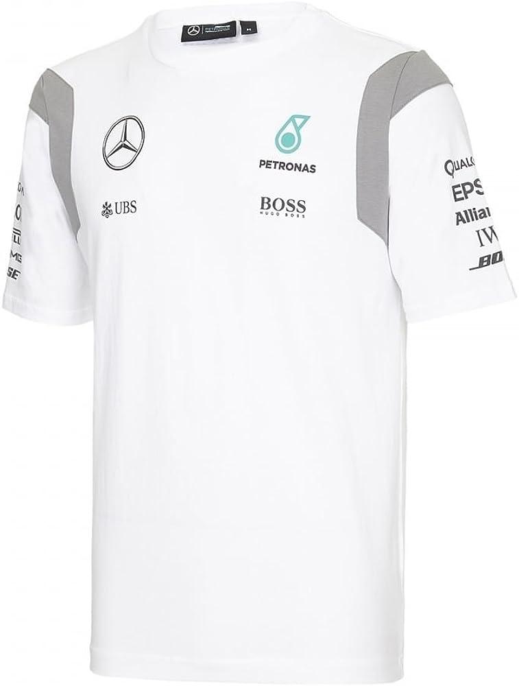 Mercedes AMG Petronas - Camiseta - para hombre Blanco blanco: Amazon.es: Ropa y accesorios